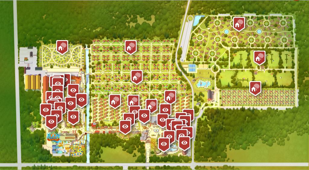 plattegrond vakantiepark slagharen